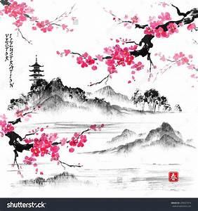 Dessin Fleur De Cerisier Japonais Noir Et Blanc : afbeeldingsresultaat voor dessins cerisiers japonais ~ Melissatoandfro.com Idées de Décoration
