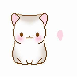 kitty cute kawaii meow pixel nyan neko big pixels ...