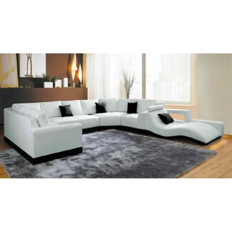 canape angle meridienne cuir canapé d 39 angle panoramique cuir blanc méridienne achat