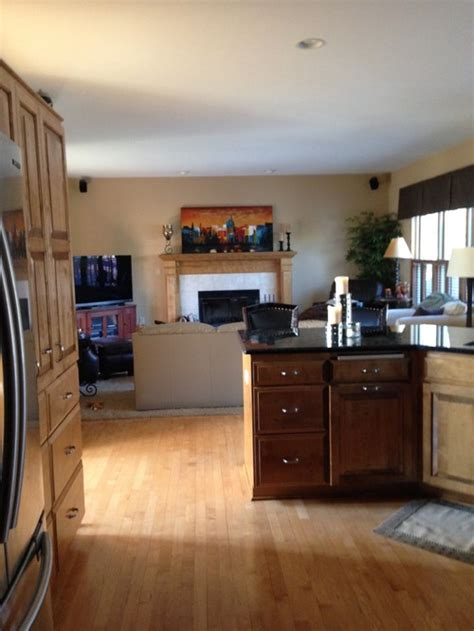 Best Paint Colors For Open Concept Family Roomkitchen