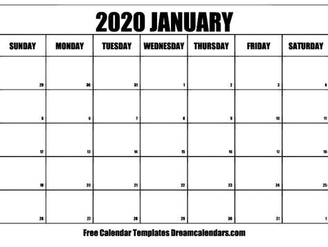printable january  calendar teaching resources