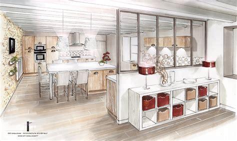 cuisine moderne design avec ilot aménagement et décoration d 39 une cuisine la mothe st