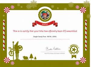 Assembled by Elves Certificate with every new kids' bike ...