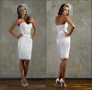 short fitted wedding dress lace white little bridal gown With short fitted wedding dresses