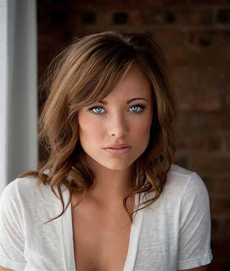 25 Hairstyles with Long Bangs Hairstyles & Haircuts 2016