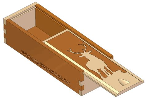 sliding lid box  box joint plan wooden boxes