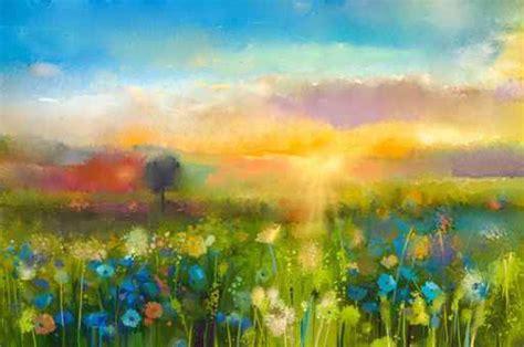 fiori ad olio quadro su tela pittura ad olio fiori di tarassaco