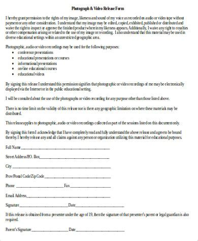 Music Copyright Release Form Template by Copyright Release Form Design Templates