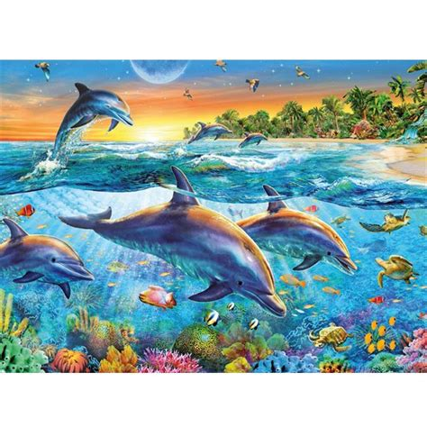 Wallpaper Hawaii Beach Sunset With Dolphins