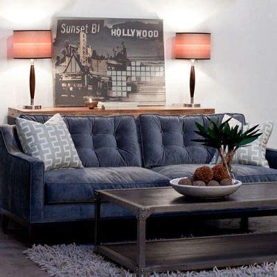 Slate Sectional Sofa Tufted Slate Blue Sofa Velvet