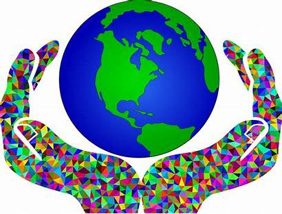 Clipart Global Geography Earth Framework Warming Hands
