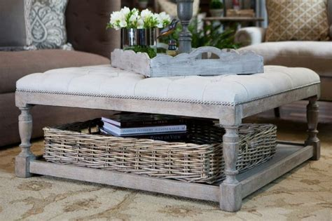 25 large and oversized ottomans to make a statement digsdigs. 12 Gray Leather Ottoman Coffee Table Inspiration