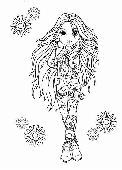 Coloring Rock Pages Star Moxie Girlz Colouring