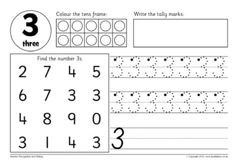 number recognition and writing worksheets sb12354 sparklebox