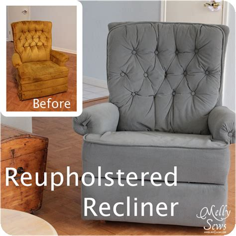 how to reupholster furniture project redecorate reupholster a recliner melly sews