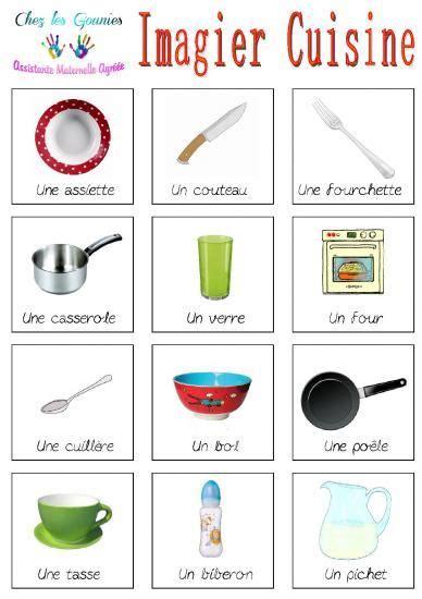 cuisine en maternelle imagiers cuisine éducation imagier