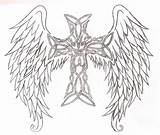 Cross Wings Coloring Pages Drawing Heart Angelic Tribal Draw Colouring Celtic Tattoos Io Draco Worlds Many Painting Adult Knot Getdrawings sketch template