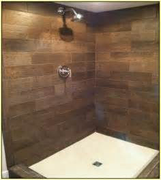 porcelain tile bathroom ideas wood look ceramic tile shower home design ideas