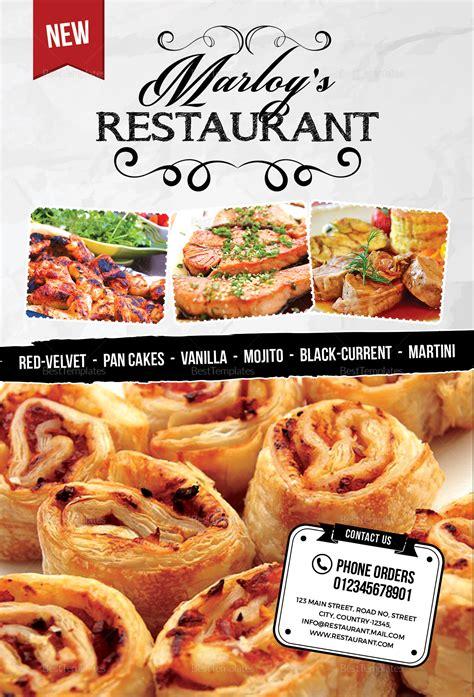 restaurant table tent menu card design template  psd
