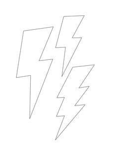 free lightning bolt stencil | Lightening clip art | Bolt tattoo, Lightning bolt tattoo, Lightning