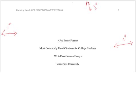 Title Page Abstract Template by Apa Essay Format Most Commonly Used Citations