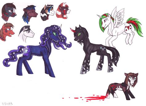 Too Many Ponies! By Whitefangkakashi300 On