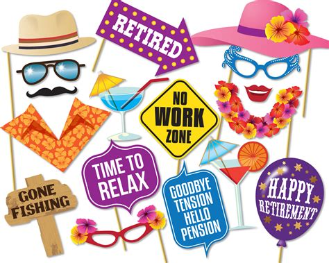 Nothing brings coworkers, friends and families closer than some competitive fun. Printable Retirement Photo Booth Props Retirement Party