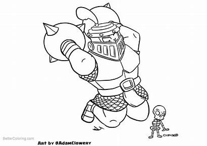 Clash Royale Coloring Pages Clowery Adam Printable