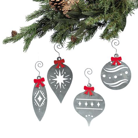 laser cut christmas ornaments with bows oriental trading