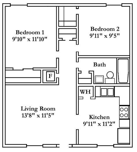 2 Bedroom Apartment Floor Plan by 2 Bedroom Apartment Floor Plan Two Three And Four