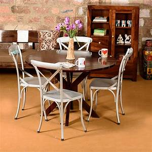 Silver, On, A, Chair, 4, Seater, Dining, Table, Contemporary