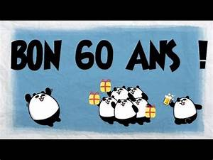 Faire Part Anniversaire 60 Ans : d 39 autres joyeux anniversaire 60 ans youtube ~ Melissatoandfro.com Idées de Décoration