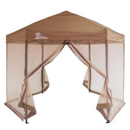 palm springs hexagonal pop  canopy tent  mesh walls walmartcom