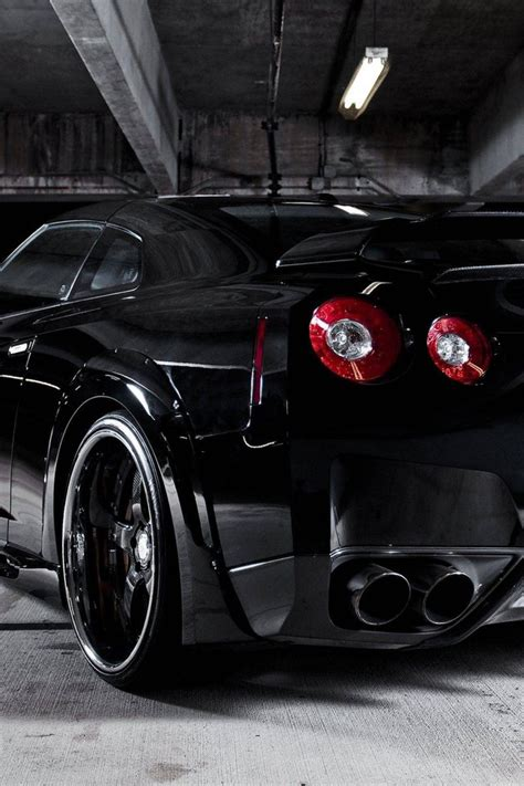 nissan gtr  black cars wallpaper allwallpaperin