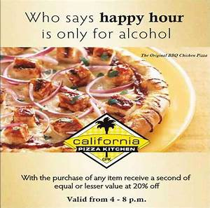 Happy Hour at CPK - California Pizza Kitchen, High Street ...