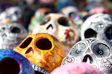 Decorated Graves by All Souls Day In Mexico