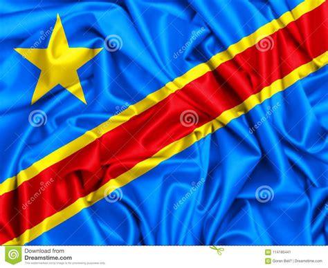 3d Waving Flag Of Democratic Republic Of Congo Stock