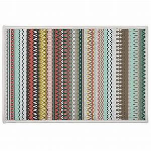Deco Multicolore : tapis d co rayures andalouses multicolore homemaison vente en ligne tapis d co ~ Nature-et-papiers.com Idées de Décoration