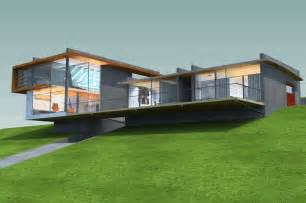hillside home designs hillside house thornton archinect
