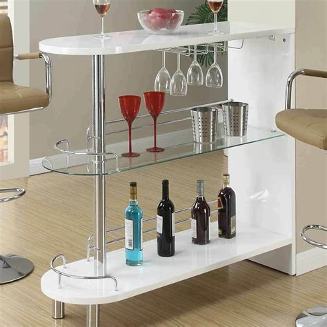 Home Bar Table by Contemporary Home Pub White High Gloss Bar Table Glass