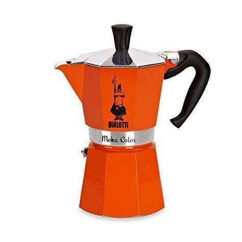 Moka italian coffee maker pot stainless steel stovetop espresso induction cooker. Bialetti Moka Express Stovetop Espresso 6-Cup Coffee Maker in Orange | Coffee maker, Moka, Bialetti