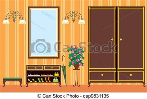 entrance in apartment vector illustration it is created in the coreldraw program it is