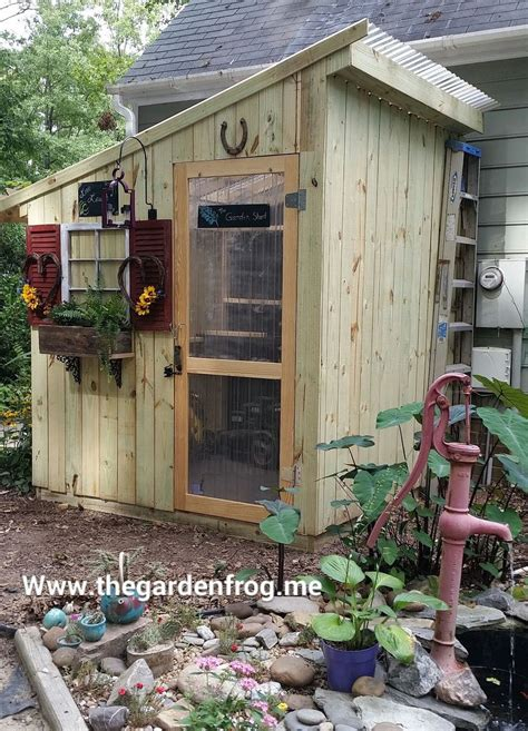 Diy Yard Shed by Chic Garden And Tool Sheds The Garden Frog Boutique