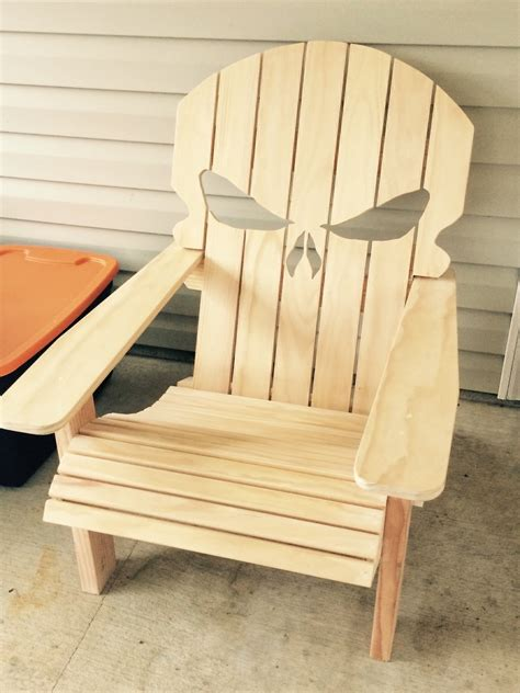 skull adirondack chair plans chair build the punisher adirondack made for my