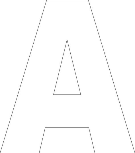 Block Letter Template Free by Free Printable Alphabet Template Classroom
