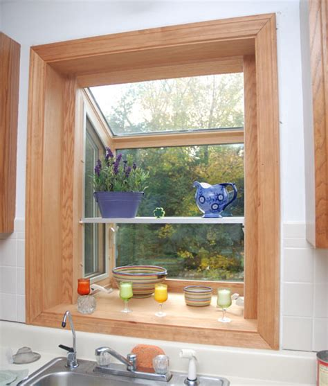 Garden Windows For Kitchen, Refreshing Part In The Kitchen. Glass Staircase. Pet Food Cabinet. Small Curved Sofa. Gray Tile Backsplash. Crafting Desk. Colorful Flowers. Charging Station Furniture. Dark Wood Cabinets