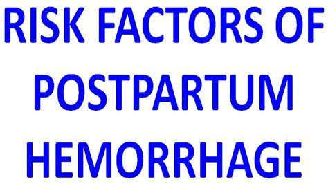 RISK FACTORS OF POSTPARTUM HEMORRHAGE. in 2020 ...