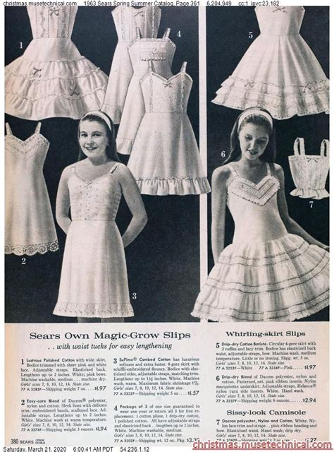 sears spring summer catalog page  christmas
