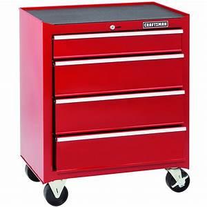26-Inch 4-Drawer Standard-Duty Rolling Cabinet: Tool