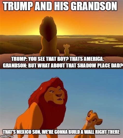 Lion King Meme - donald trump and his grandson the lion king meme funny hilarious memes funny stuff